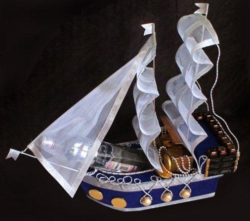 Корабли из конфет: пошаговый МК с поэтапными фото и видео-уроками для начинающих