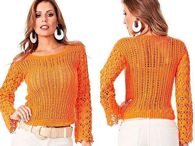 Пуловер спицами: видео-уроки для начинающих