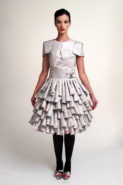 Как сделать платье из бумаги своими руками на себя 508
