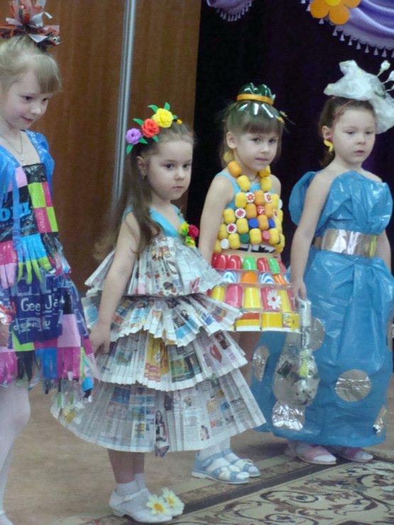 Платье из подручного материала: мастер класс своими руками
