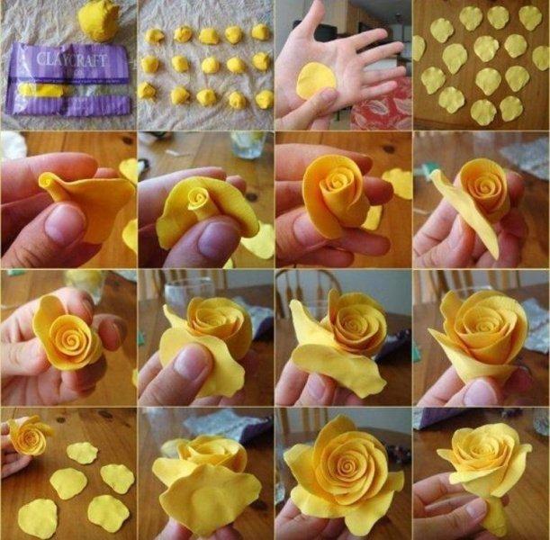 Роза из холодного фарфора: мастер класс с пошаговыми фото и видео