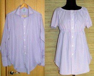 Как сшить блузку из мужской рубашку 5