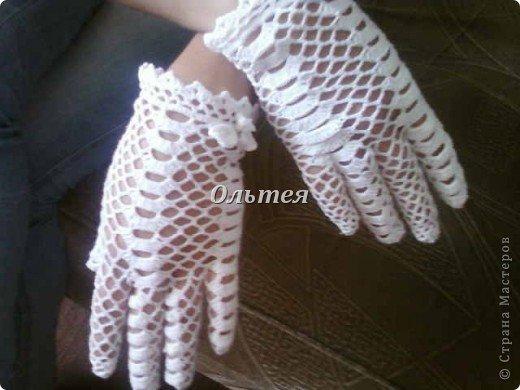 перчатки вязаные крючком ажурные схемы и фото