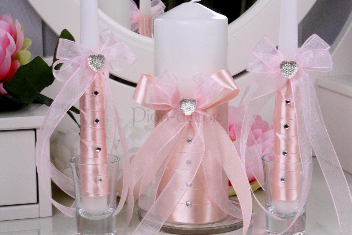 Декор свечей своими руками для свадьбы фото