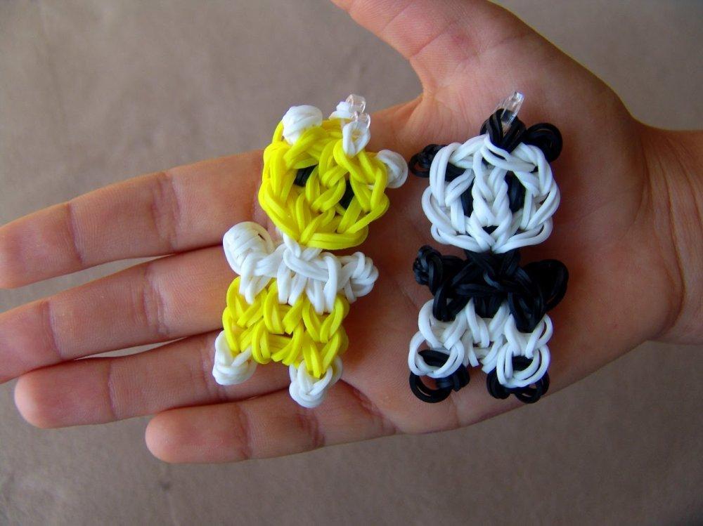 Поделки из резинок для плетения своими руками: варианты на рогатке и на станке