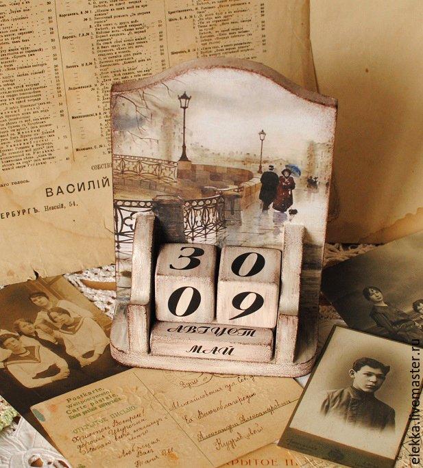 Вечный календарь кубиками своими руками 10