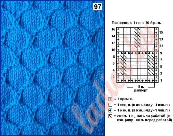 Квадраты, клетки спицами простые узоры 33