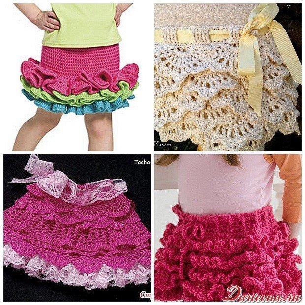 вязания юбки с оборками