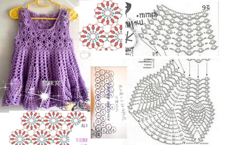 Вязание крючок платье для девочки