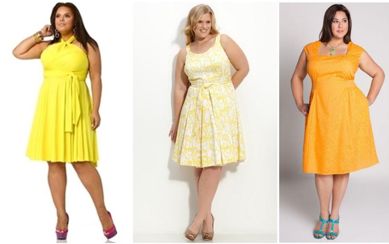 Летние платья на полных девушек