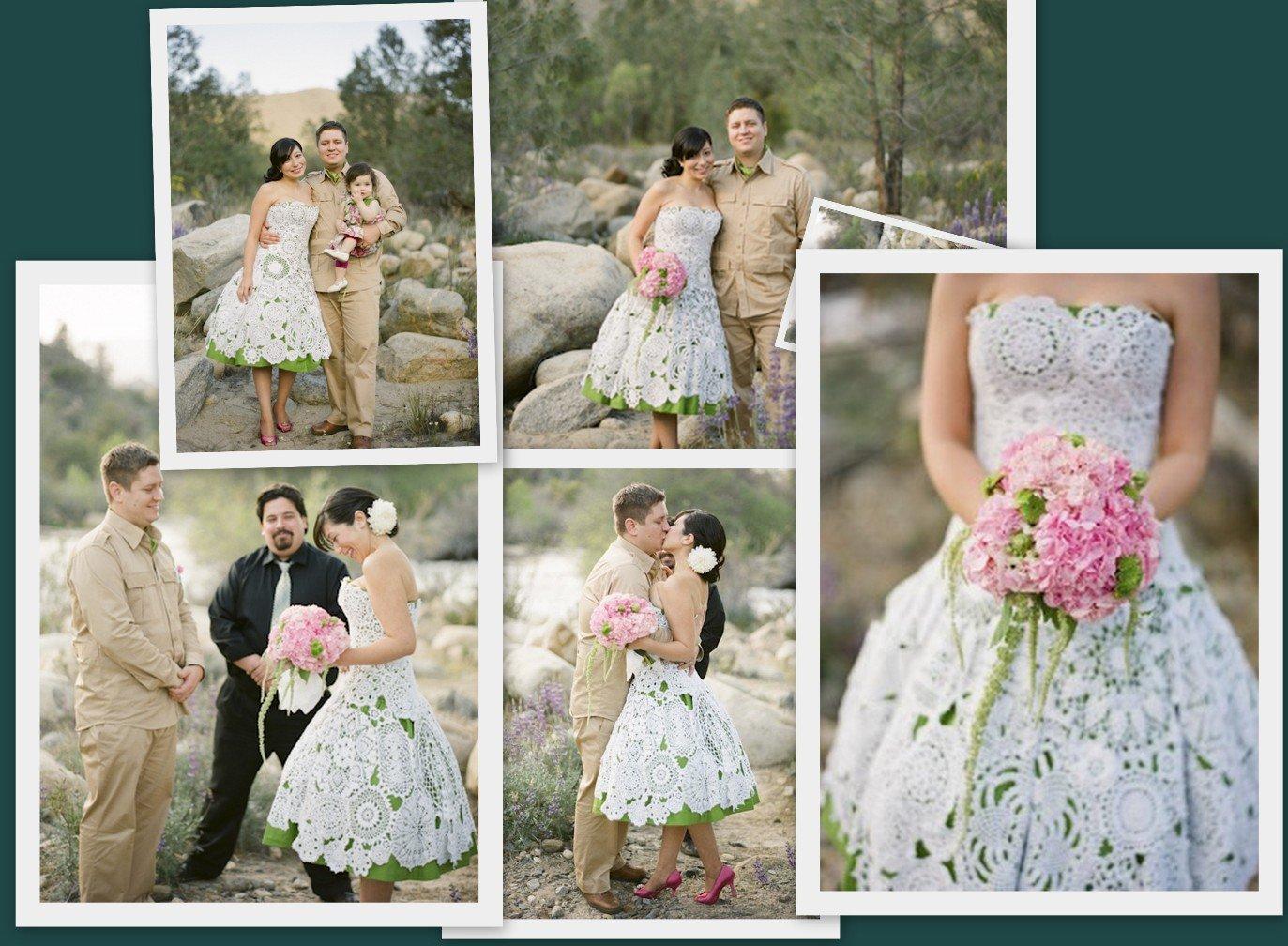 Свадебное платье крючком: МК по вязанию с пошаговыми фото ...