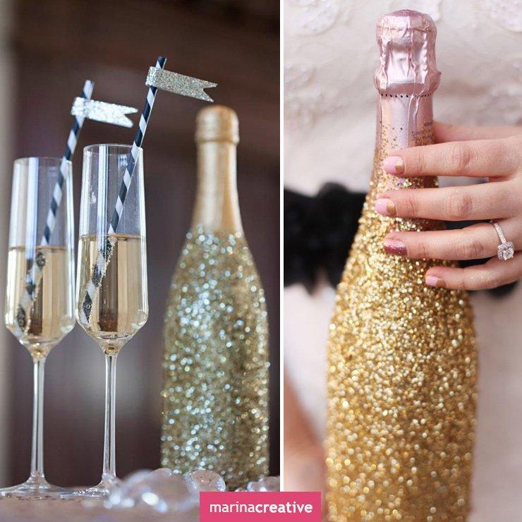 Декор шампанского своими руками фото