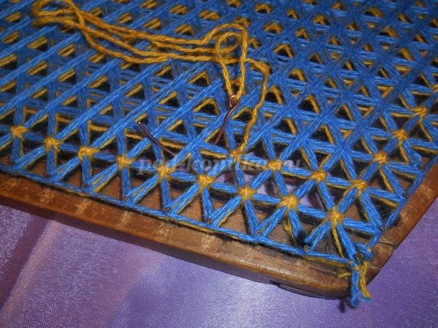 Плетение на гвоздях на рамках