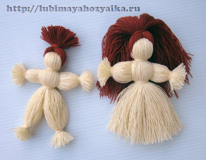 Кукла из ниток своими руками фото 720