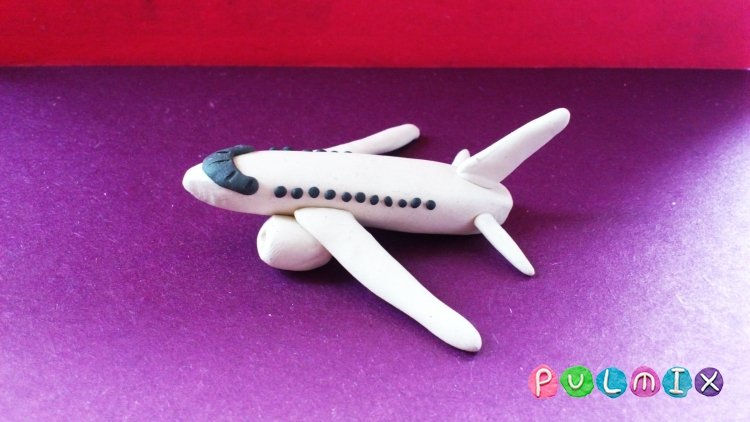 Поделки из пластилина самолёты 13