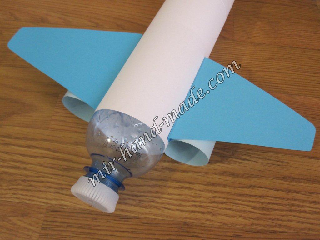 Как сделать самолет из бутылки чтобы она взлетела