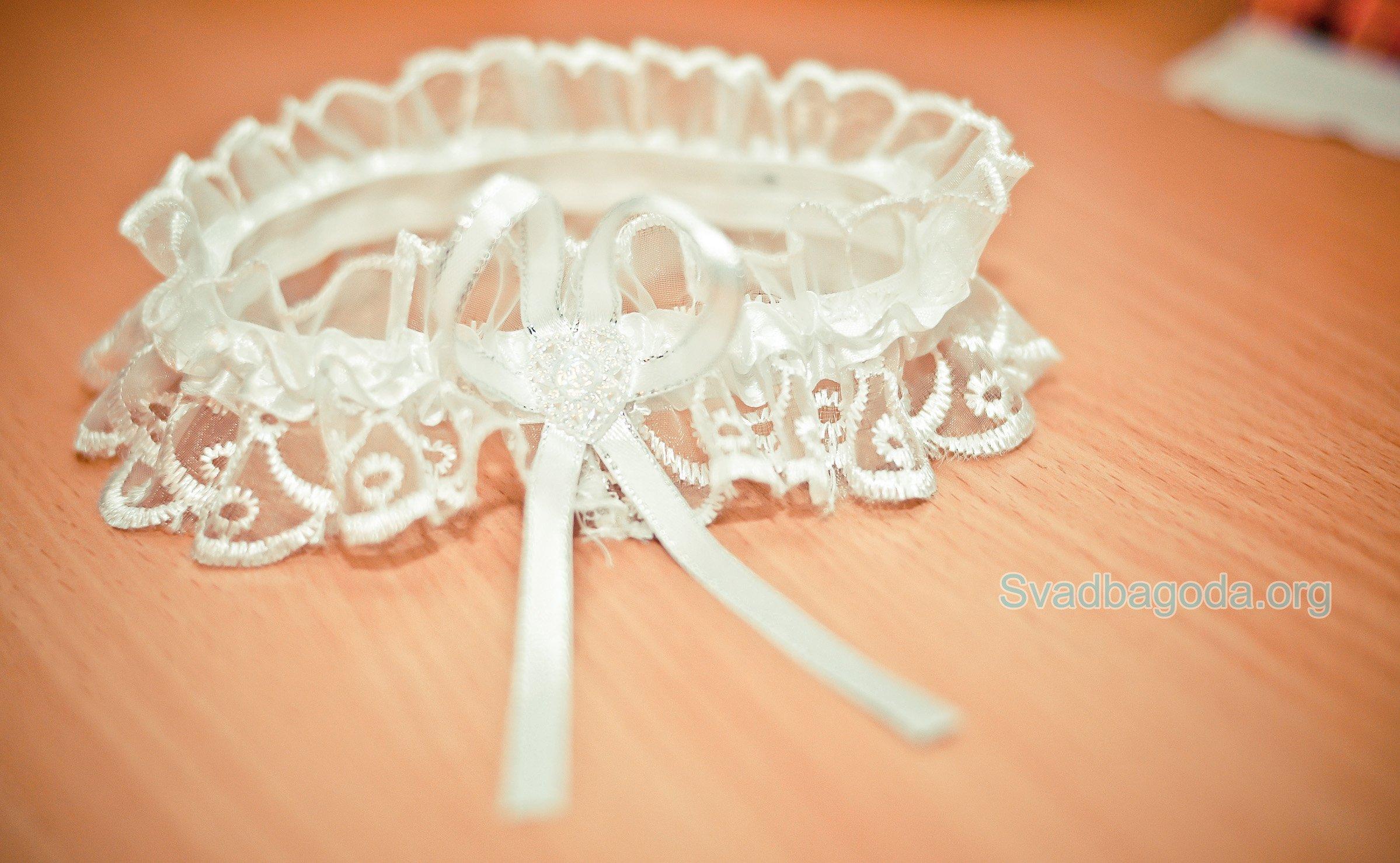 Сшить подвязку для невесты мастер класс 22