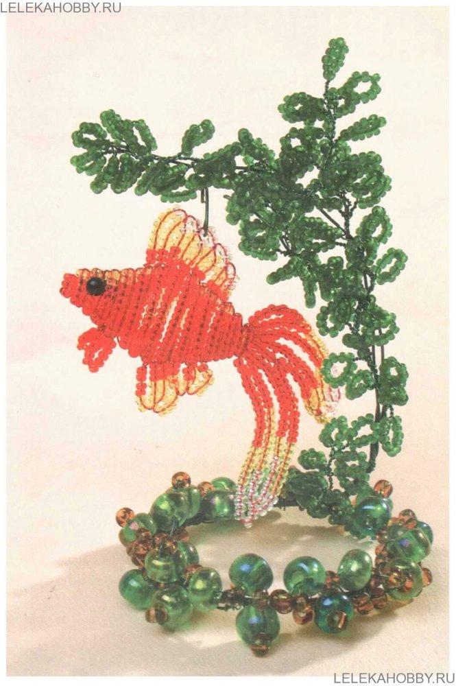 Рыбка из бисера: схема для начинающих, мастер-класс с пошаговыми фото и видео