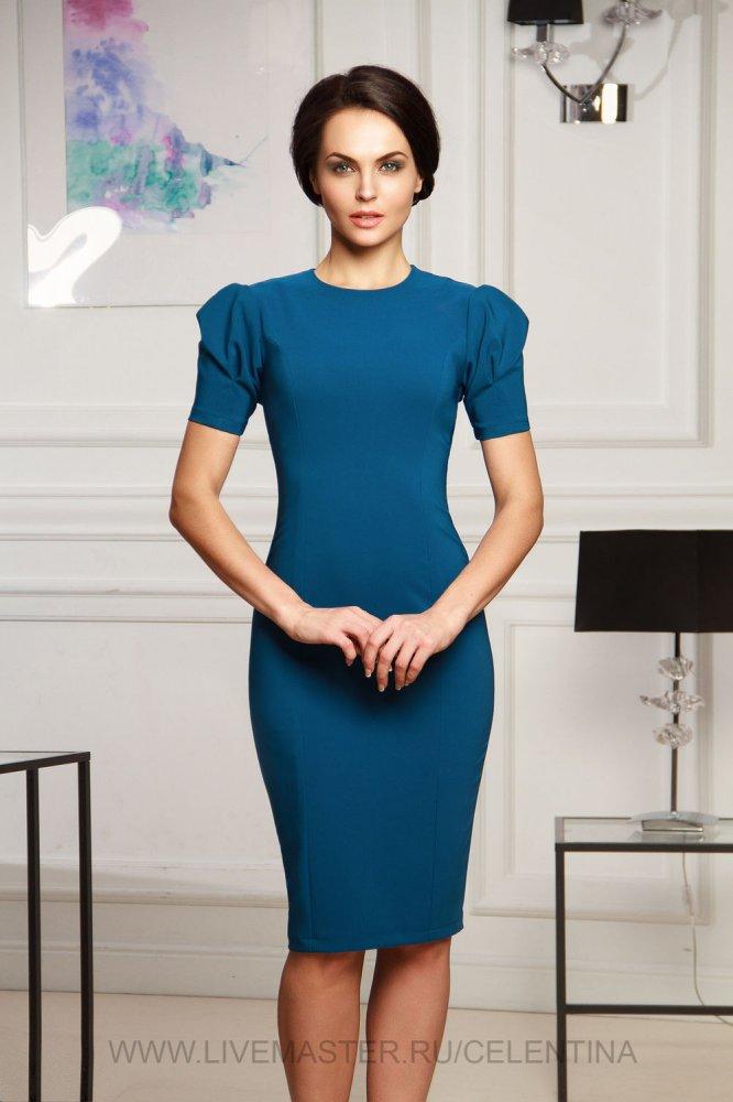 Платье с рукавом Фонарик: выкройка и МК с пошаговыми фото и видео-уроками для начинающих