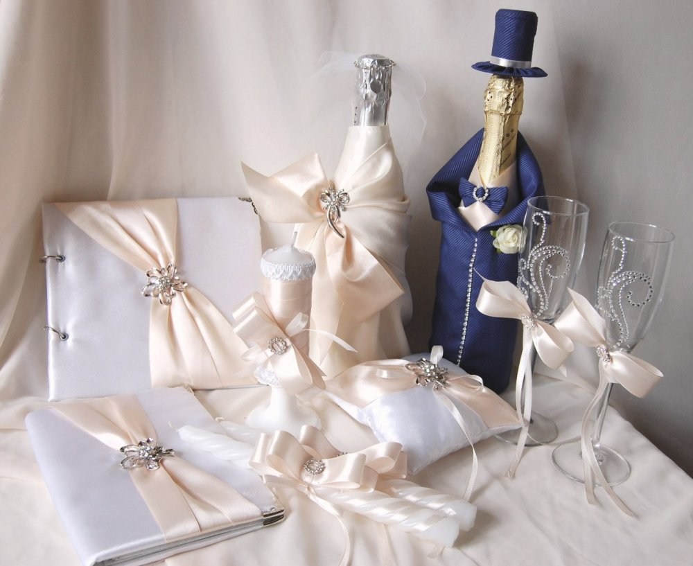 Аксессуары к свадьбу своими руками