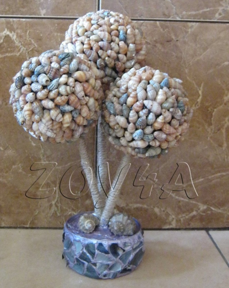 Дерево из ракушек своими руками мастер
