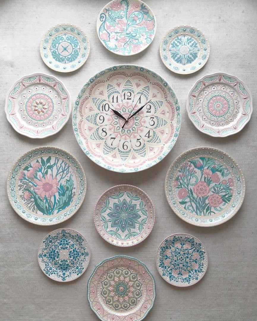 Декоративные тарелки на стену 32