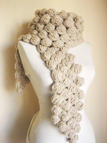 вязаные шарфы крючком со схемами и описанием для начинающих
