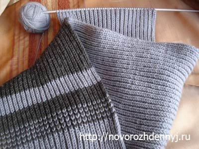 Вязаный шарфик спицами