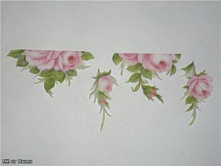 Цветочные мотивы для декупажа вазы