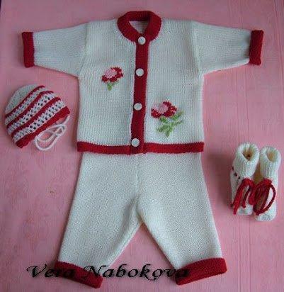 вязаные детские костюмчики для новорождённых схемы и описание для