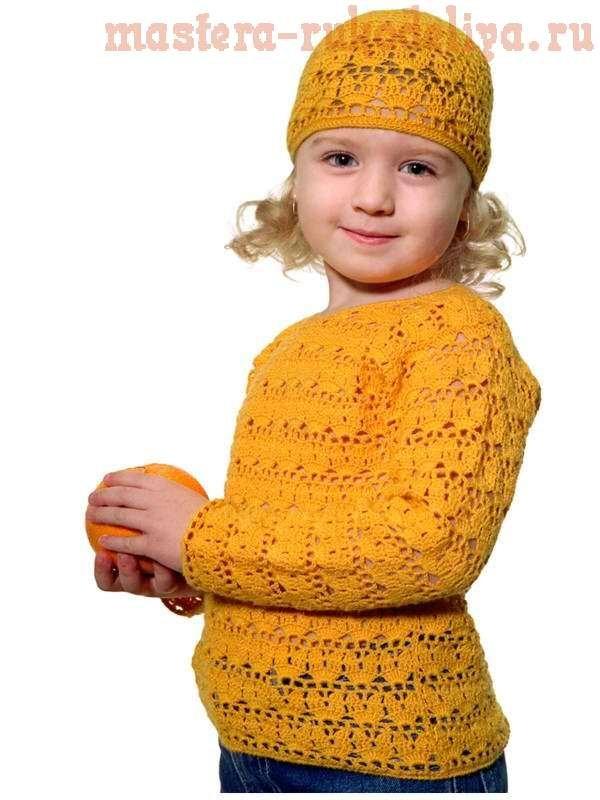 вязаная кофта для девочки спицами схемы примеры и описания с фото