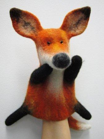 1436790337_1391519620_fox_oren2 Как валять игрушки из шерсти. Сухое и мокрое валяние, войлок из шерсти в 2019 году