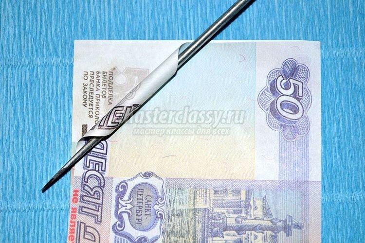 1437163052_1392901200_7_750x500 Цветы из денег пошагово своими руками (фото)