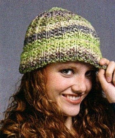 женские шапки спицами со схемами и описанием с видео и фото