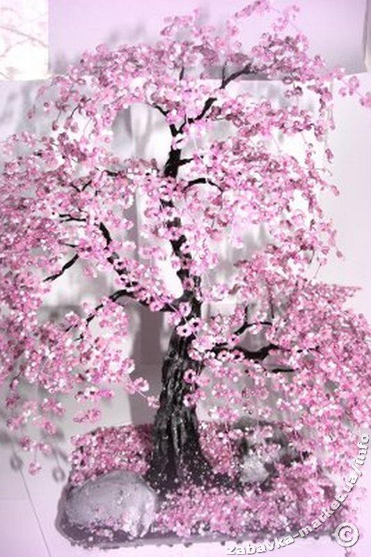 1440959407_shishko_8 Мастер-класс по Сакуре из бисера своими руками: как сплести дерево со схемой, фото и видео