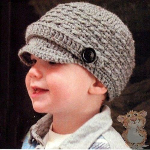 Теплая детская шапка крючком схема