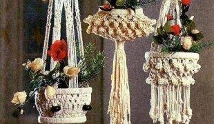 1460311394_image_1669 Кашпо макраме своими руками. Кашпо для цветов в технике Макраме: схемы плетения и мастер-классы для начинающих