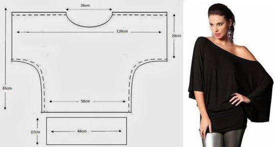6862e5a7609 Сшить такую тунику проще простого  достаточно проложить швы по рукавам и  обработать горловину