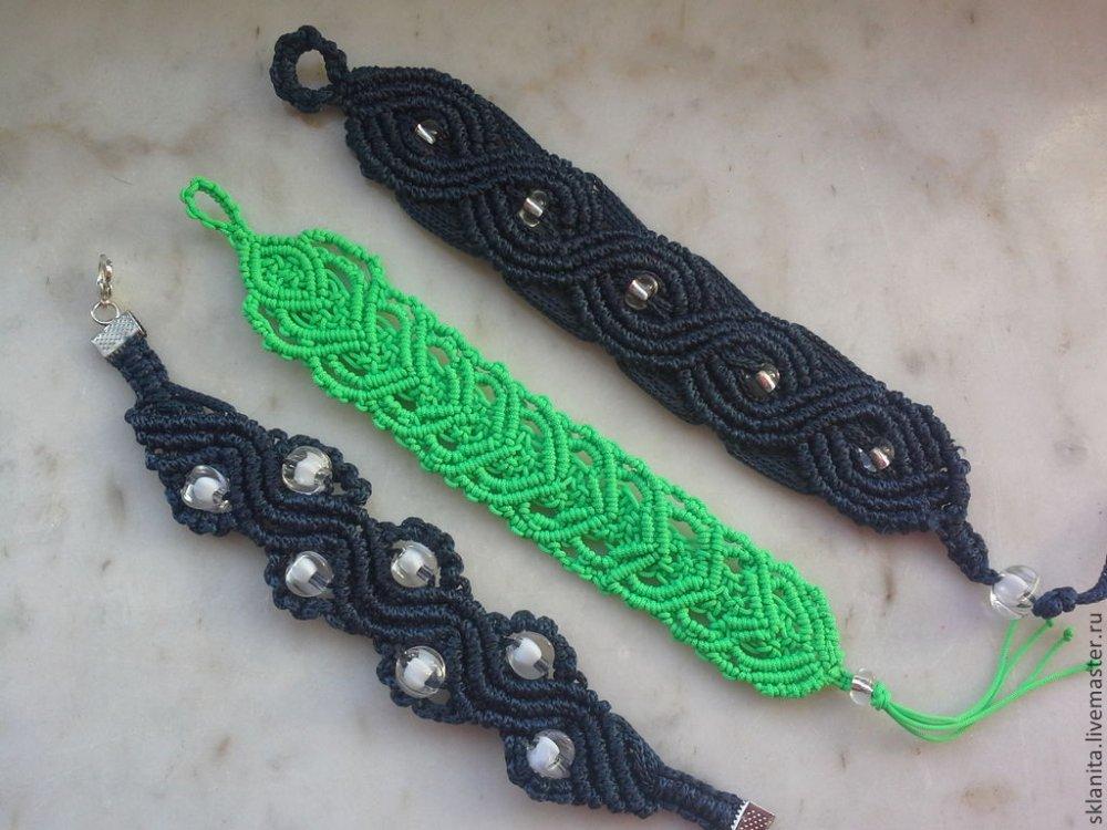 1460311196_b076fad298118a08f8461aec02nd-ukrasheniya-braslety-makrame Макраме браслеты: схемы плетения и видео, с ниток как сплести своими руками, для начинающих с бусинами стиль