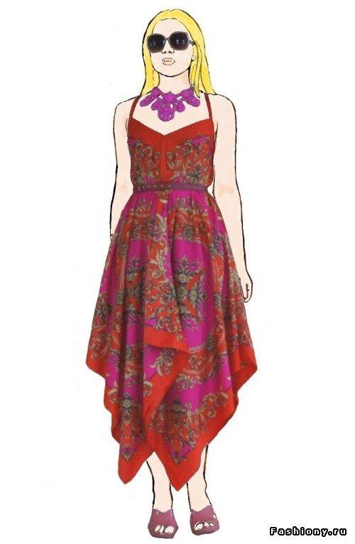 1464369889_23 Как легко сшить простое платье? Как быстро сшить платье на лето своими руками без выкройки из шелка, трикотажа и шифона?