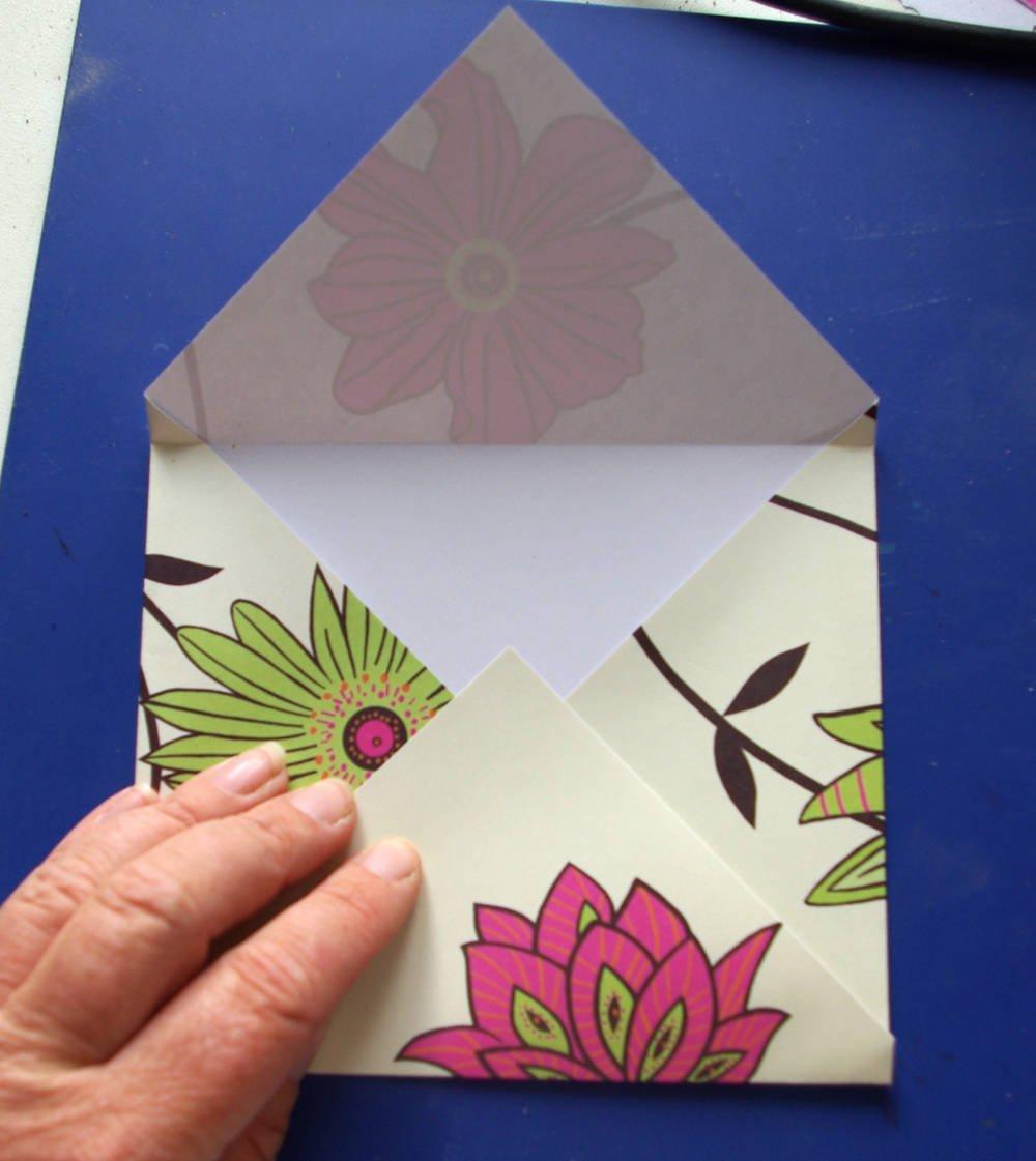 Для, красивая открытка из листа а4