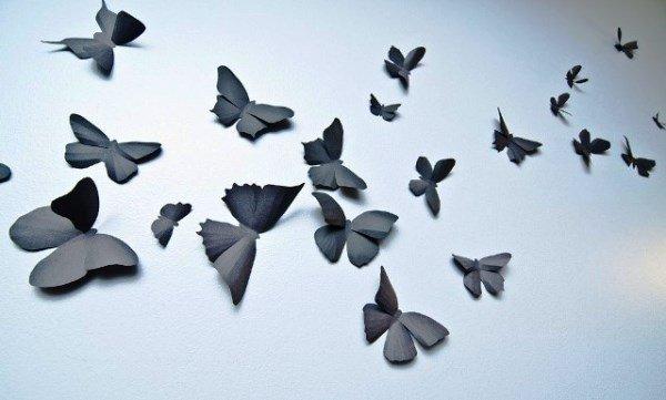 Как вырезать бабочку из бумаги