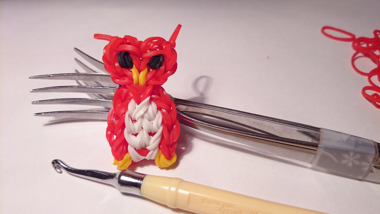 Плетение из резинок на вилке для начинающих: осваиваем схемы Чешуя дракона, Сова и Рыбки