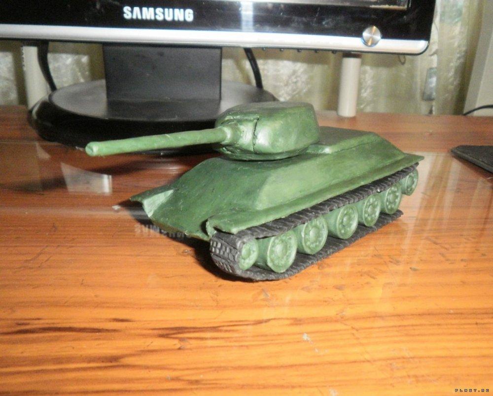 1466522451_1305291962_p5120133 Как сделать танк т-34 из пластилина: танк тигр, ис 7 и ис5 поэтапно с фото