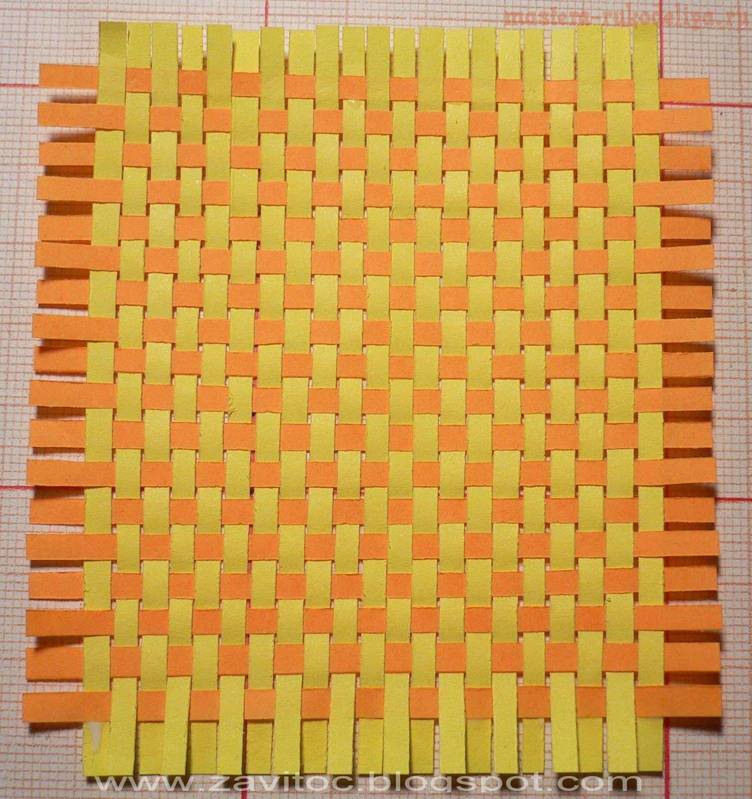 Коврик из цветной бумаги картинки
