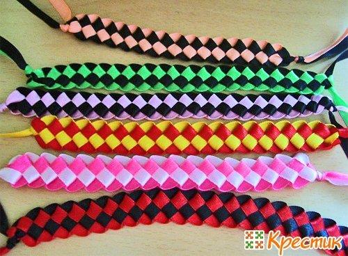 Плетение из ленточек