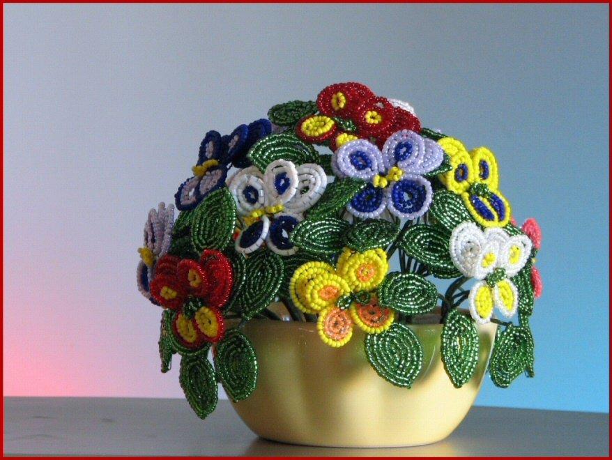 1474047788_biser.info_738_fialki-an-utiny-glazki_070429 Анютины глазки из бисера: французское плетение и мастер класс с фото