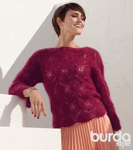 Ажурные пуловеры спицами со схемами для начинающих и продвинутых мастериц