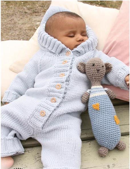 бесшовный комбинезон на спицах инструкция как вязать для новорожденных