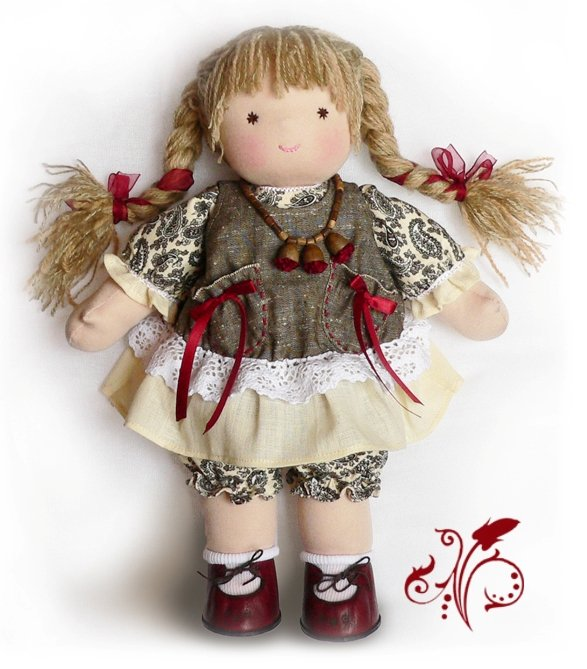 Куклы из натуральных тканей